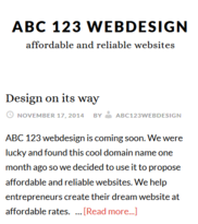 Abc123 Web Design Logo