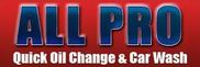 All Pro Quick Oil Change & Car Wash Logo