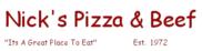 Nick's Pizza & Beef Logo