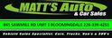 Matt's Auto and Car Sales Logo