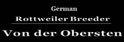 Von Der Obersten Rottweilers Logo