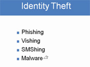 ID Theft Includes